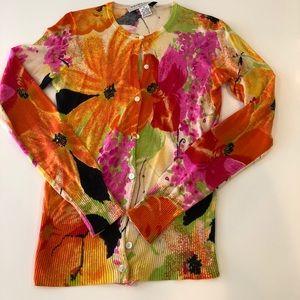 Trina Turk Silk/Cashmere Sweater size M